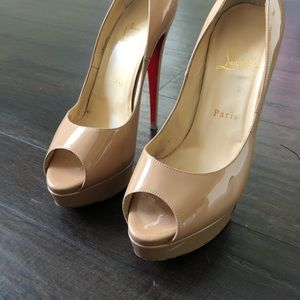 Louboutin Lady Peep shoes size 39.5